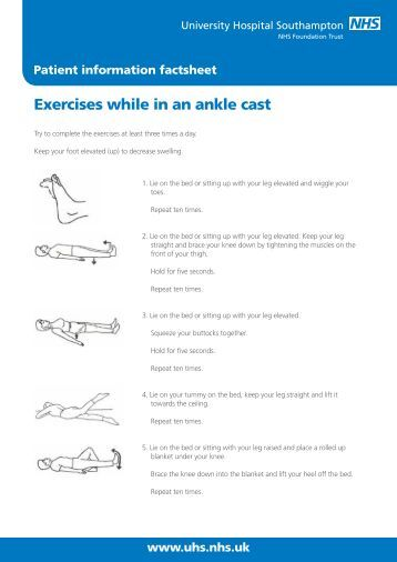 Exercises while in an ankle cast - patient information