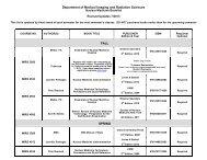 Nuclear Medicine Fall Semester Booklist
