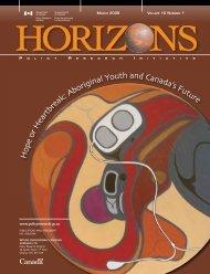 Hope or Heartbreak: Aboriginal Youth and Canada's Future