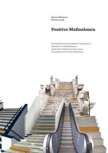 Positive Massnahmen - Chancengleichheit