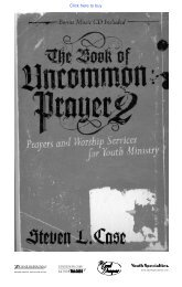 The Book of Uncommon Prayer 2 Prayers and ... - Youth Specialties
