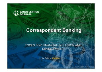 Correspondent Banking - Postal Financial Inclusion