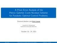 A Priori Error Analysis of the Petrov Galerkin Crank Nicolson ...