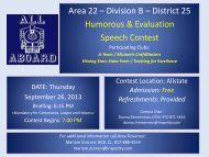 Flyer - District 25 Toastmasters
