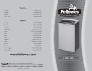 C-220/C-220C Manual-2007 - Fellowes