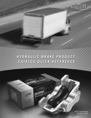 HydRAUlic bRAke PROdUcT cATAlOG qUick ... - CBS Parts Ltd.