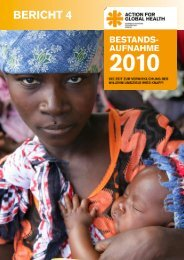 BERICHT 4 - Action for Global Health