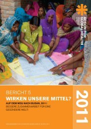 Download Policy Bericht 2011 - Action for Global Health