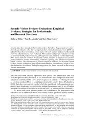 Sexually Violent Predator Evaluations: Empirical ... - Defense for SVP