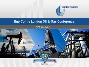 Unit Corporation - EnerCom, Inc.