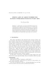 STRONG LAWS OF LARGE NUMBERS FOR RANDOM UPPER ...