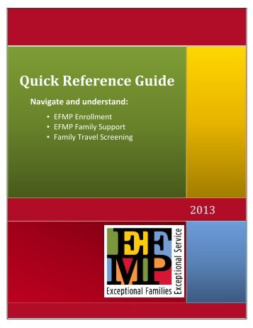 EFMP Quick Reference Guide