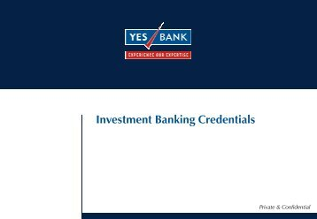 Investment Banking Credentials g