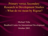 Primary versus Secondary Research in Development Studies - What ...