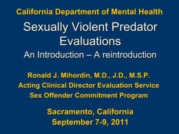 California sex offender commitment program