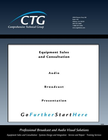 Professional Broadcast and Audio Visual Solutions