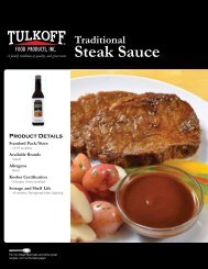 Traditional Steak Sauce - Tulkoff Food Products