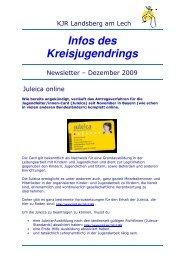 NewsletterKJR Landsberg - Dezember 2009 - Kreisjugendring ...