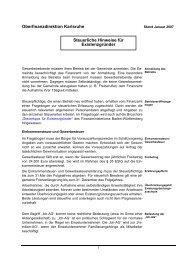 Hinweise für Existenzgründer - Oberfinanzdirektion Karlsruhe