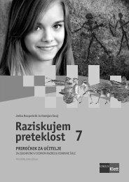 Raziskujem preteklost 7 (posodobljena izdaja 2009) - priročnik za ...