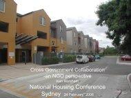 Presentation - National Housing Conference