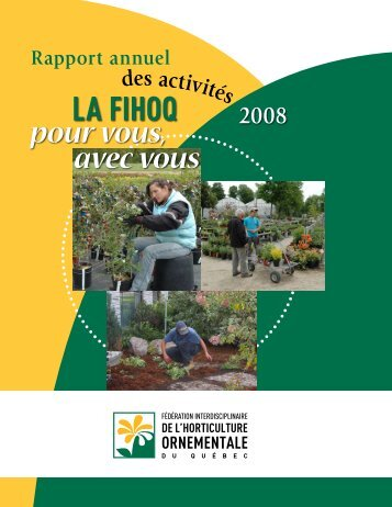 Rapport annuel de la FIHOQ 2008 - Fédération interdisciplinaire de l ...