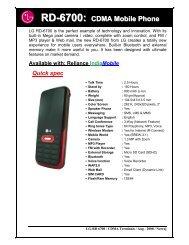 RD-6700: CDMA Mobile Phone - LG Mobiles