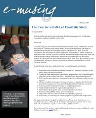 The Case for a Staff-Led Feasibility Study - Gary Hubbell Consulting
