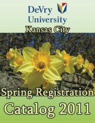 Registration Catalog (PDF) - DeVry - Kansas City - DeVry University