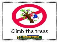 Sign Flashcards - Rules In a Park - ESL Kids World