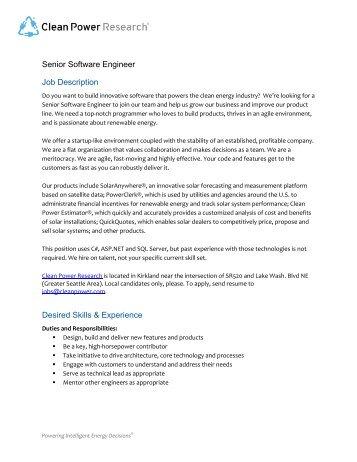 Beautiful Senior Programmer Job Description Photos Best Resume