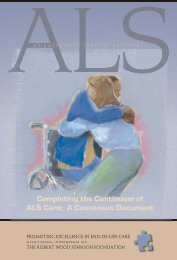 ALS Report to the Field - Promoting Excellence in End-of-Life Care