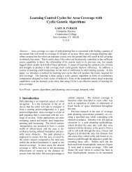 Learning Control Cycles for Area Coverage with Cyclic ... - WSEAS