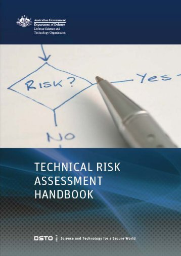 Technical Risk Assessment Handbook - Defence Science and ...