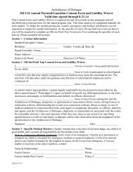 Consent Form/Liability Waiver - St. Wenceslaus Church