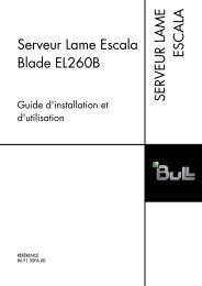Serveur lame Escala Blade EL260B Guide d'installation et d'utilisation