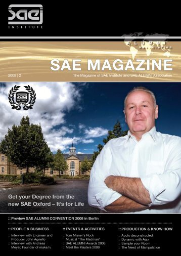 SAE MAGAZINE - SAE Alumni Association - SAE Institute