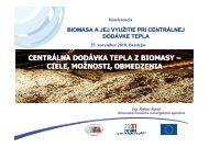 centrálna dodávka tepla z biomasy - Slovenská inovačná a ...