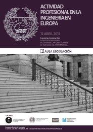 actividad profesional en la ingeniería en europa - Colegio de ...