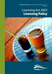 Licensing Act 2003 policy - North Devon District Council