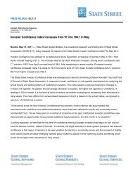 Investor Confidence Index Increases from 97.3 to ... - State Street