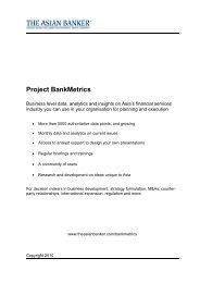 Project BankMetrics - The Asian Banker