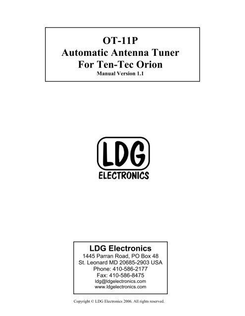 OT-11 - LDG Electronics