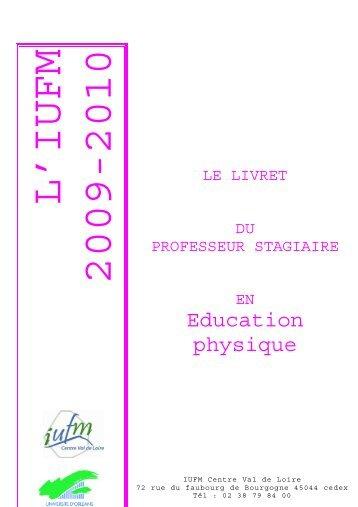 livret disciplinaire EPS site - IUFM