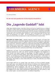 """Die """"Legende Gaddafi"""" lebt"""