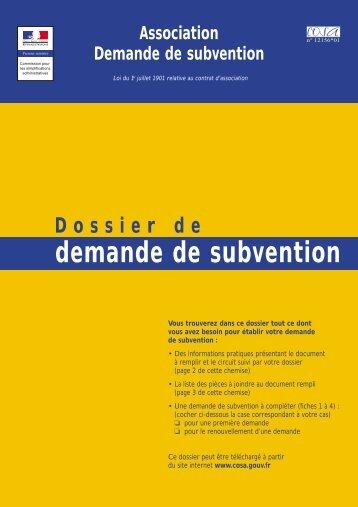 Association - Demande de subvention