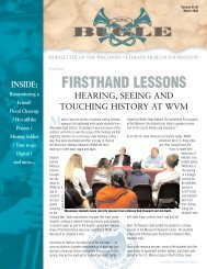 FIRSTHAND LESSONS - Wisconsin Veterans Museum Foundation