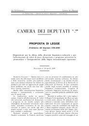 Proposta di legge n. XV/129 - Federazione Esperantista Italiana