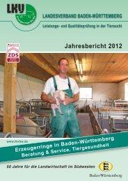 Jahresbericht der Erzeugerringe 2012 - Landesverband Baden ...