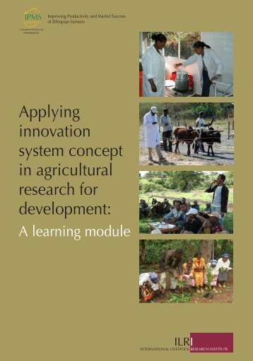 Applying innovation system concept in agricultural research for ...